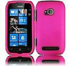 For Nokia Lumia 710 Rubberized HARD Protector Case Snap on Phone Cover Hot Pink