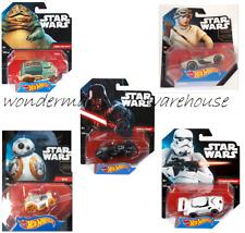 Star Wars Hot Wheels Set of 5 cars vehicles - Rey, BB8, Darth Vader -New & Boxed