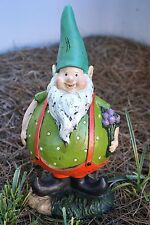 "15""H Adorable Large Resin Green Gnome Patio Garden Figurine Outdoor Lawn Decor"