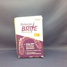 BRAND NEW! RETAINER BRITE CLEANING TABLETS, 96 TABLETS, 3 MONTH SUPPLY