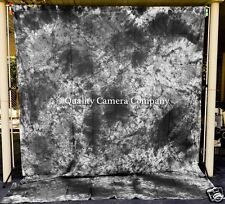 Black, Gray & White Dyed Fabric Background - 9 x 12' + POLE POCKET - EXCELLENT