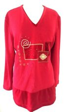 Bobbie Brooks Women's Size L 16-18 Holiday Xmas Knit Sweater Tops Shirt Blouse