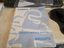 OEM Yamaha Owners Service Manual 2008 WR250 FX LIT-11626-21-56