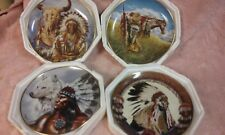 4 Pre Owned Beautiful Franklin Mint Indian Porcelain Never Used