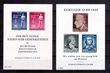 GERMANY DDR 1955 Liberation Day & Schiller min sheets MVLH