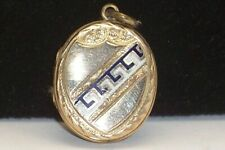 Victorian Enamel Gold Filled Photo Picture Locket