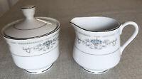 Wade Fine Porcelain China Diane Japan Creamer and Covered Sugar Bowl Set