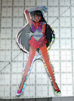 Sailor Moon jumbo prism sticker prismatic Sailor Mars decal attack pose