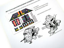 STAR WARS VINTAGE 'DIE CUT' REPLACEMENT STICKERS for INT4  /  INT-4 INTERCEPTOR