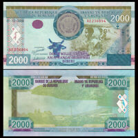 BURUNDI 5000 5,000 FRANCS 15-01-2015 UNCIRCULATED P-53