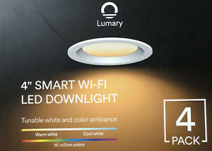"Lumary 4"" Smart Wi-Fi Led Downlight 4 Pack"