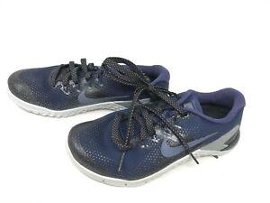 Womens Nike (AJ7804-440) Metcon 4 Metallic College Navy sneakers (448J)