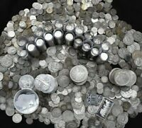SILVER COINS OLD COLLECTION ROUNDS BARS BULLION US 90% ~ SILVER EAGLES!