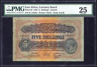 East Africa 5 Shillings 1933  P- 20  VF