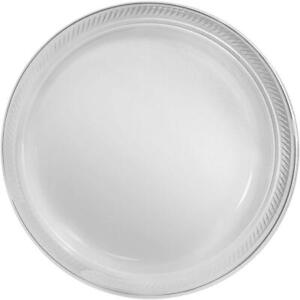 """Big Party Pack Clear Plastic Plates   10.25""""   of 50   50 pieces"""