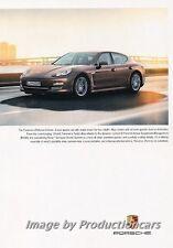 2013 Porsche Panamera Platinum Original Advertisement Print Art Car Ad J675