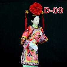 D-09 China Qing-Dynastie Geisha chinesisch Puppe Figur Seide 31cm  groß