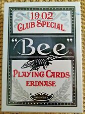 BEE 1902 CLUB SPECIAL ERDNASE PLAYING CARDS ACORN BACKS Extra Selected  (JDVD14)