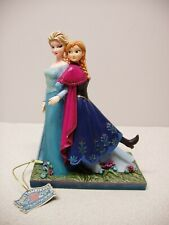 """Disney Traditions Elsa & Anna """"Sisters Forever� Statue Showcase Collection"""