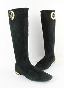Tory Burch Women's Black Suede Knee High Boot Shoe Size 9