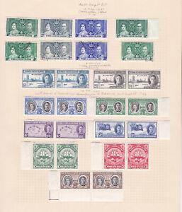 Turks & Caicos. 1937-1948. 1/2d to 10/-. Fresh mint.