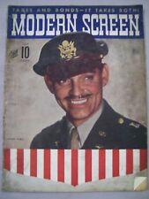 MODERN SCREEN JULY 1943 CLARK GABLE TAXES AND BONDS