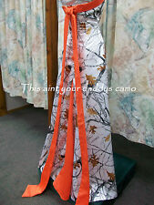 Made in the USA CAMO A Line Wedding Gown w/ sweep train 'Amanda'
