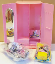 Vanna White pink Doll Wardrobe 7�x12� closet with New Bags clothes & accessories