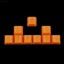 9pcs PBT Keys Backlit Keycaps For Cherry MX Mechanical Keyboard Orange Durable