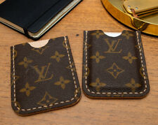 Authentic Reclaimed Louis Vuitton Canvas and Natural Leather Wallet - Cardholder