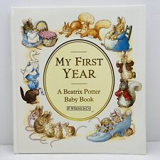 "Vintage 1983 Beatrix Potter Peter Rabbit Baby Book ""My First Year"" New"