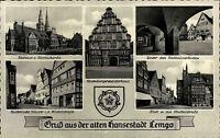Hansestadt Lemgo Mehrbild AK ~1950/60 Rathausarkaden Mittelstraße Nicolaikirche