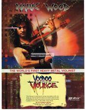 1992 Mark Wood Violinist Voodoo Violince Record Album Cd Promo Vtg Print Ad
