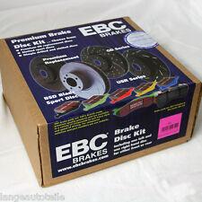 EBC Frenos Turbo Groove Disco Negro Pastillas Blackstuff BMW E90 E91 E92 SPORT