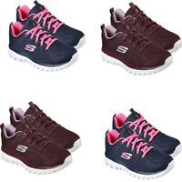 Skechers Womens Trainers Running Gym Casual Shoes Graceful Sports Sneakers Size