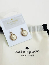$48 Kate Spade Luminous Simulated Pearl & Crystal Drop Earrings Cream Multi