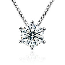 925 Sterling Silver Austrian Crystal Pendant Necklace For Women Wedding Gift