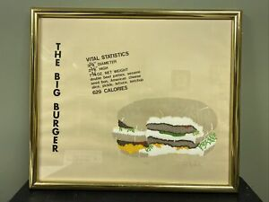 Pop Art The Burger Love American Style Lee R. Lerfald Framed Serigraph 1970's