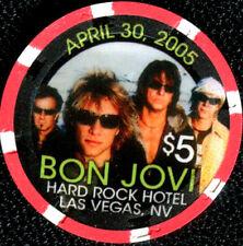 $5 Las Vegas Hard Rock BON JOVI Casino Chip - Uncirculated