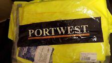 Portwest HI VIS Waterproof Traffic Safety Trousers Pants High Vis Workwear SizeM