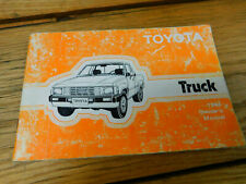 1984 TOYOTA Pickup TRUCK Owners Manual Vintage