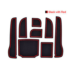Rubber Doors Slot Cup Holder Anti Dust Non-Slip Pad Mats For Honda Accord 08-13