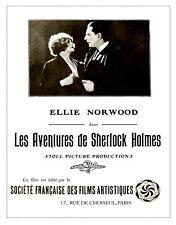 "Sherlock Holmes poster 1920 silent film 16"" x 20"""