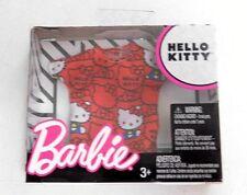 Hello Kitty Barbie Fashion Pack Separates Red White Black Printed Tee Shirt Top