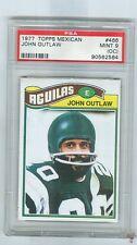 1977 Topps Mexican  # 466 JOHN OUTLAW  Eagles  Jackson State  PSA 9oc