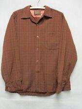 V6643 Sir Pendleton Wool Brown/Black USA Made 70's Shirt Men's M