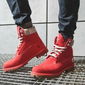 "TIMBERLAND X NBA HOUSTON ROCKETS 6"" Inch Premium Boots OG DS Genuine Red Leather"