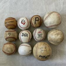 Lot Of 8 Baseballs 3 Softballs Used Crafts Tony The Tiger Pizza Hut Tides Pilot
