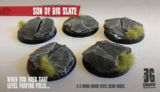 Son of Big Slate 5 x 40mm Round Resin Bases