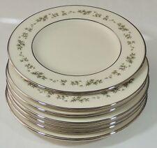 "7 Lenox USA Brookdale 6 3/8"" Bread & Butter Plates EUC"